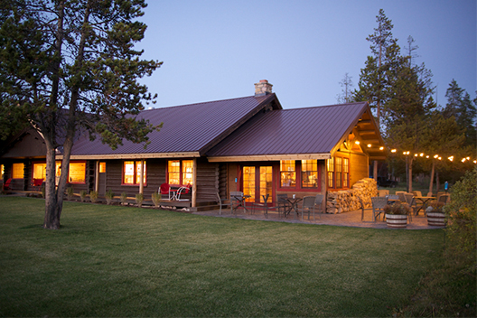 TUrpin meadow ranch lodge twilight